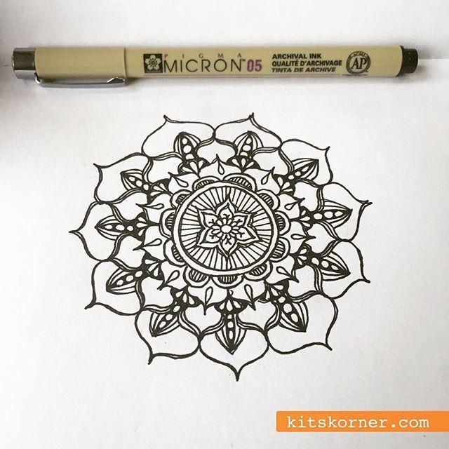 InstaDiary : Saturday relaxing mandala doodles..