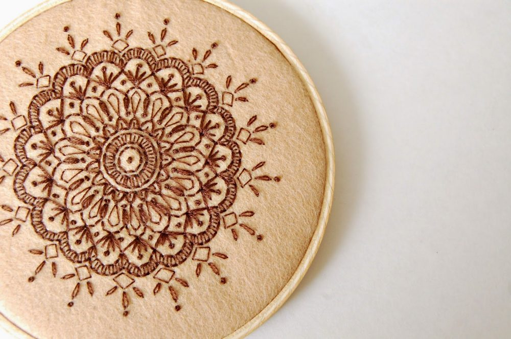 DIY Mandala Embroidery Tutorials