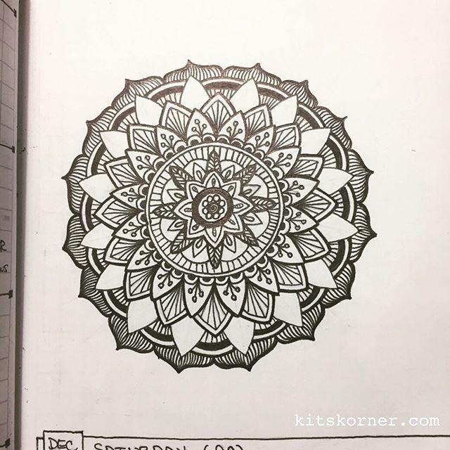 Dec 5-11 – Mandala Journal Closeup…