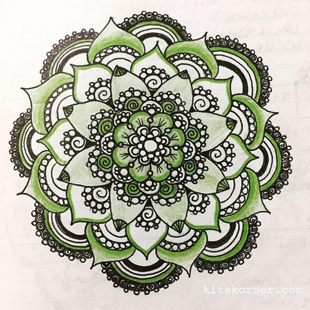 Jul 7-11 – Mandala Journal Closeup…