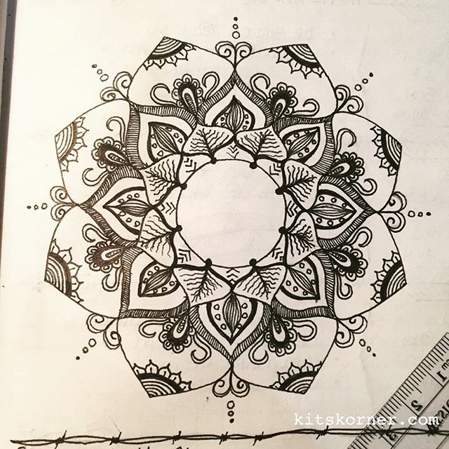 Nov 21-27 – Mandala Journal Closeup…