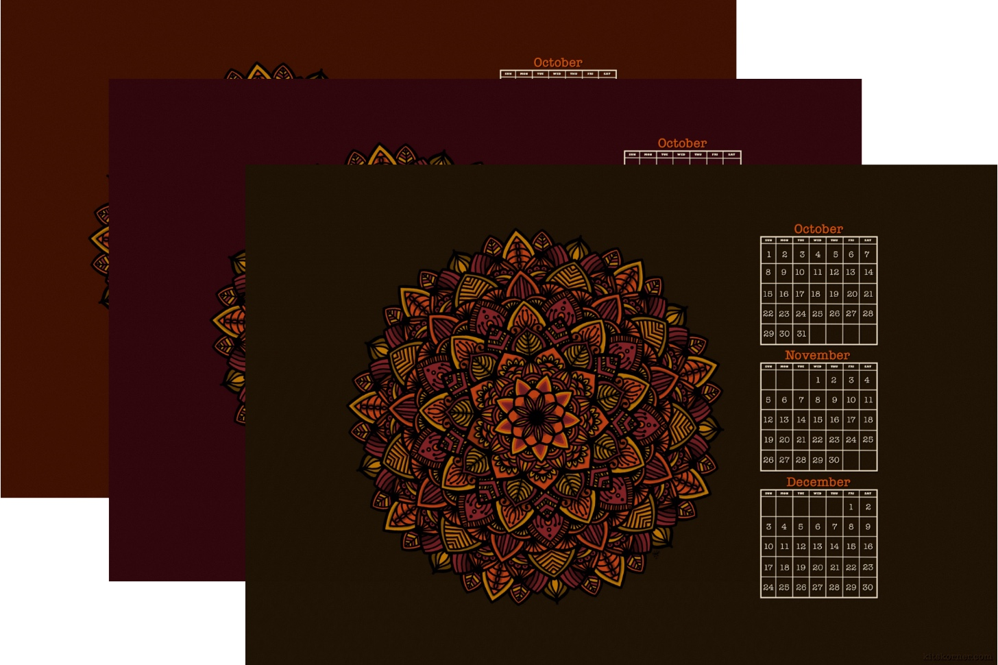 Fall Mandala iPad Background Freebie