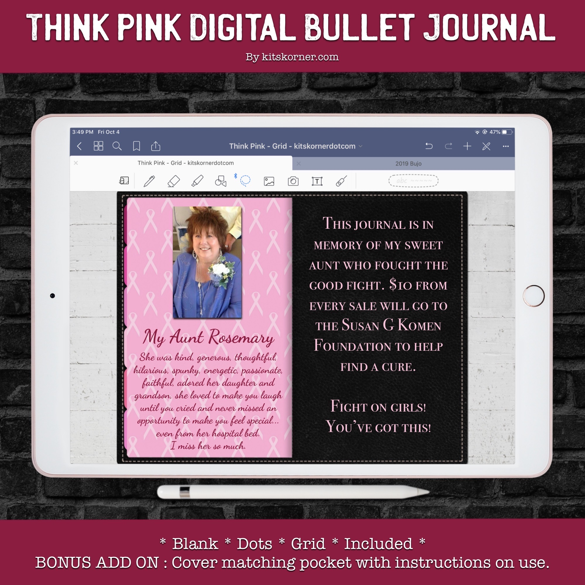 Think Pink Digital Bullet Journal